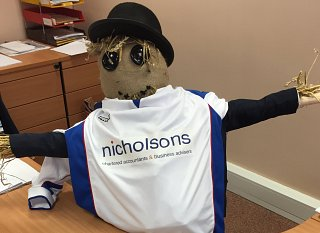 Nicholsons mascot Wozel the scarecrow to appear at this year's Show